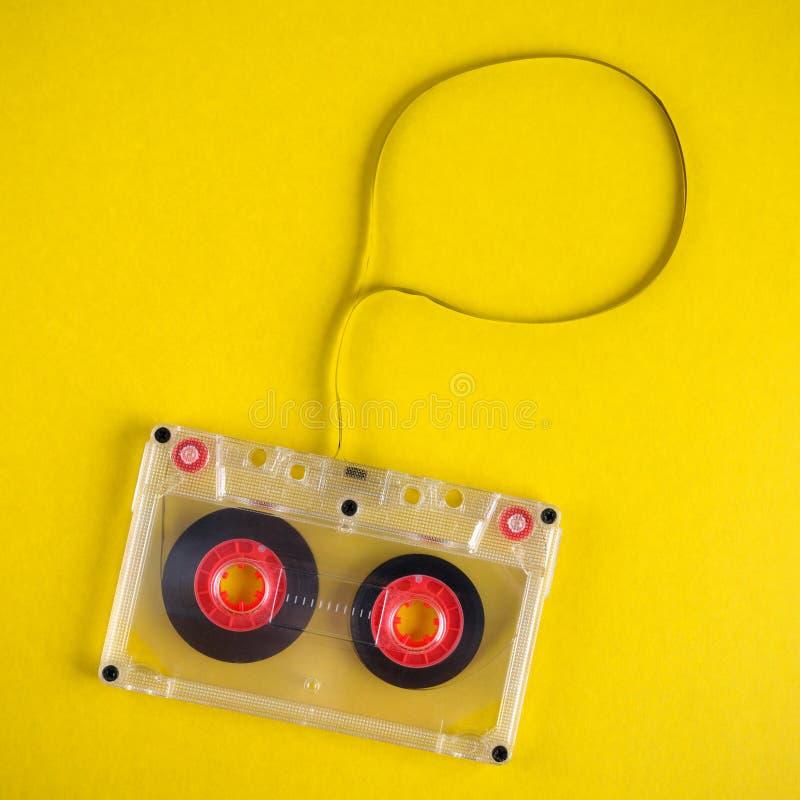 Audio vassoio con nastro adesivo immagine stock libera da diritti