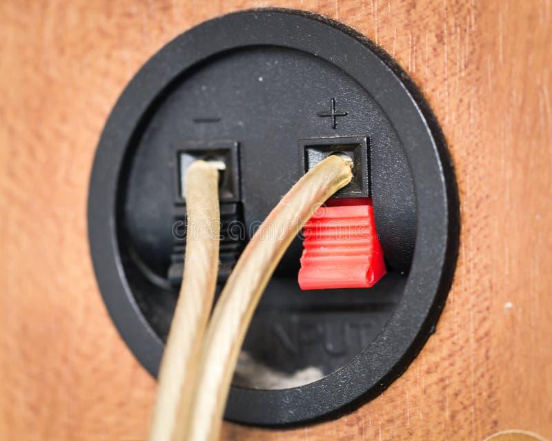 Audio verbonden kabels royalty-vrije stock foto's
