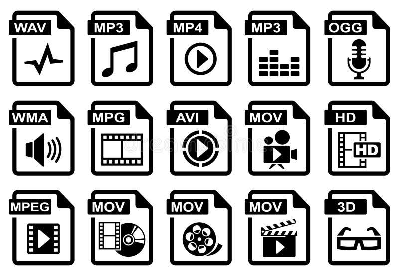 Audio & video royalty free illustration