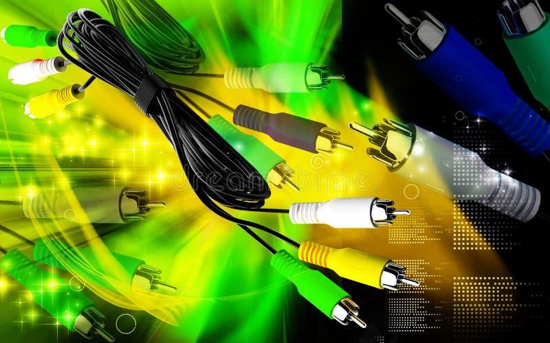 Audio/video cavo illustrazione di stock