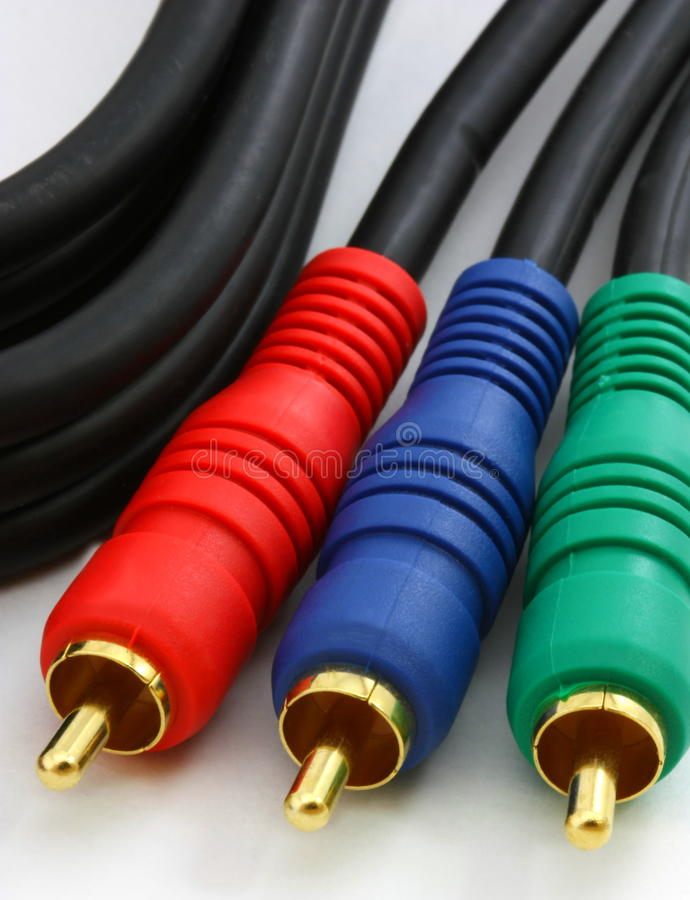 Audio Video component cables, royalty free stock image