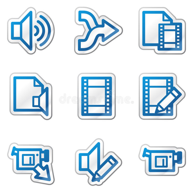 Download Audio video edit web icons stock vector. Image of volume - 11781747