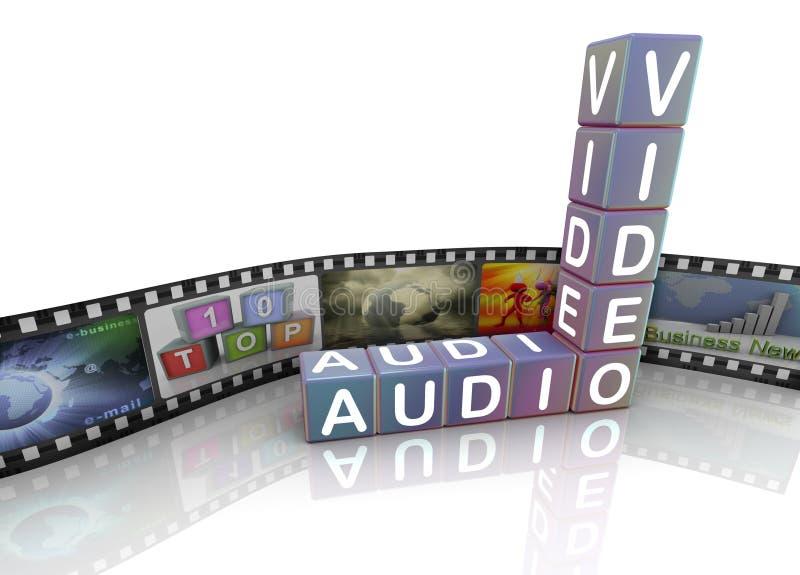Download Audio Video film reel stock illustration. Illustration of information - 21184856