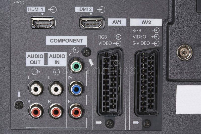 Audio video input fotografia stock libera da diritti