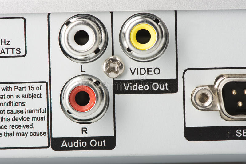Audio Video Inputs stock photography