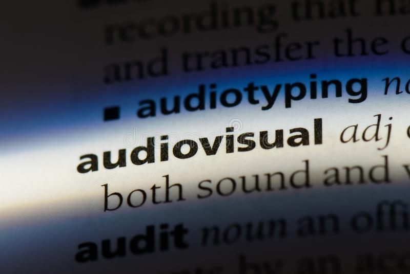 audio-visuell lizenzfreie stockfotografie