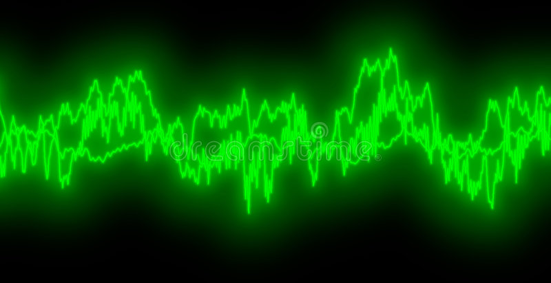 Audio Waves royalty free illustration