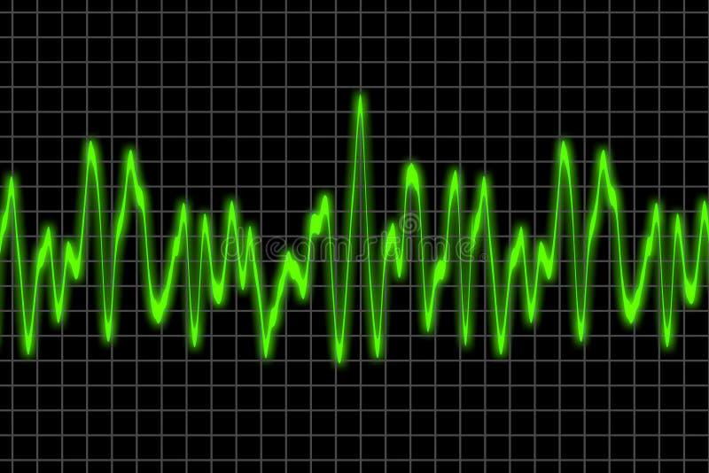 Audio waves royalty free illustration