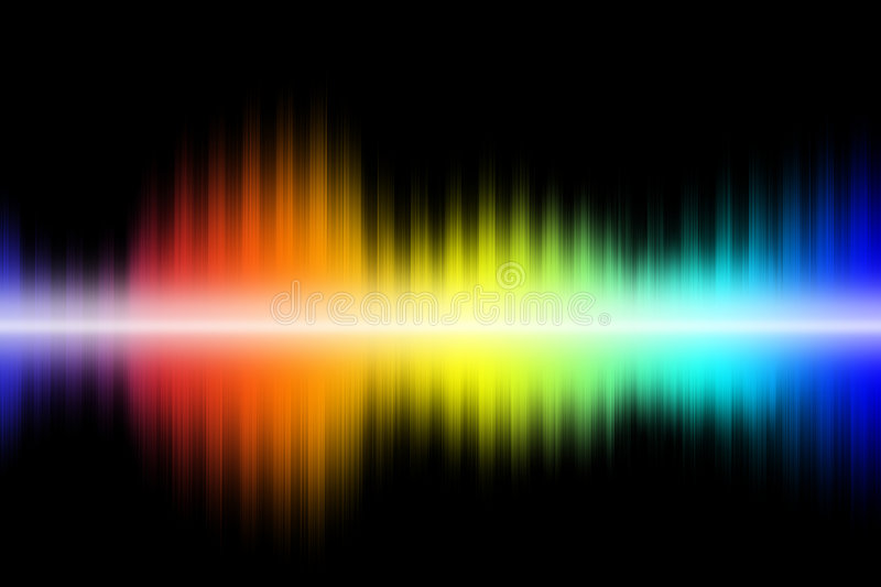 Download Audio waves stock illustration. Illustration of colors - 6272171
