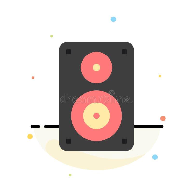 Audio, Wifi, haut-parleur, moniteur, calibre plat abstrait professionnel d'icône de couleur illustration stock