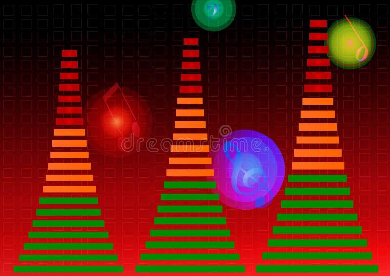 audio wyrównywacz royalty ilustracja