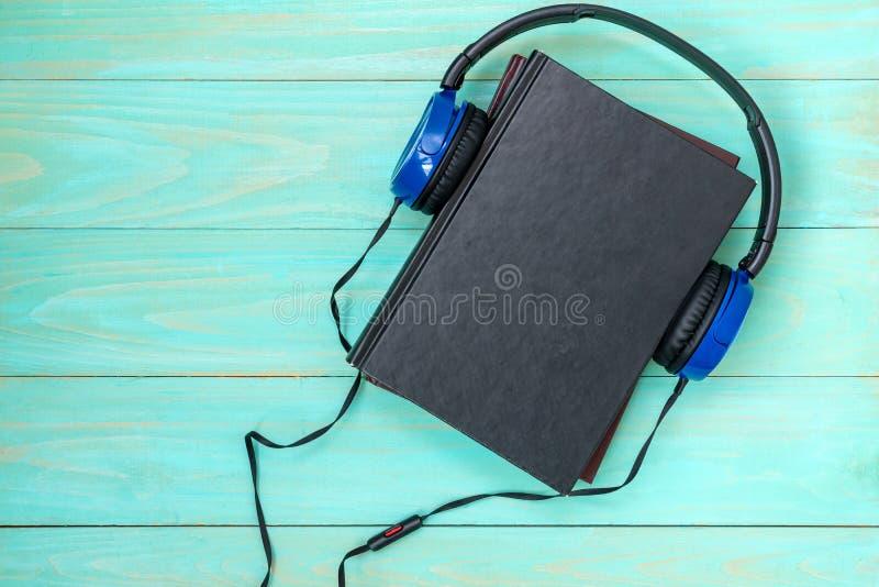 Audioboekenconcept stock afbeeldingen