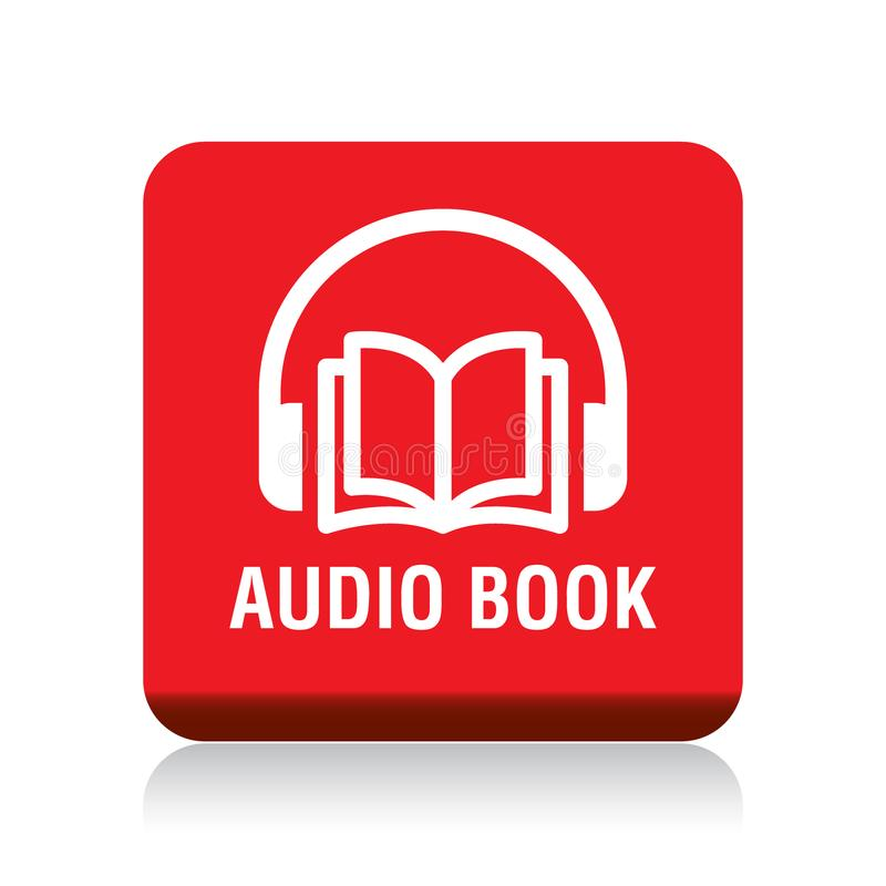 Audioboekknoop stock illustratie