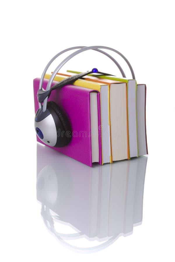 audiobook五颜六色的概念 免版税图库摄影