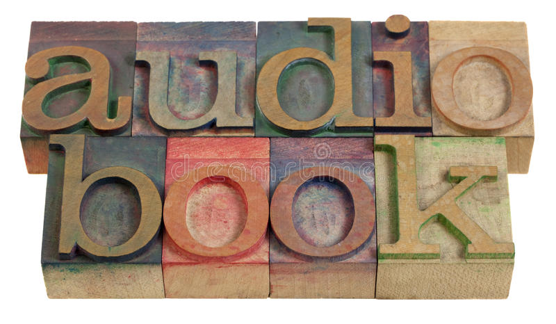 Audiobook royalty free stock image