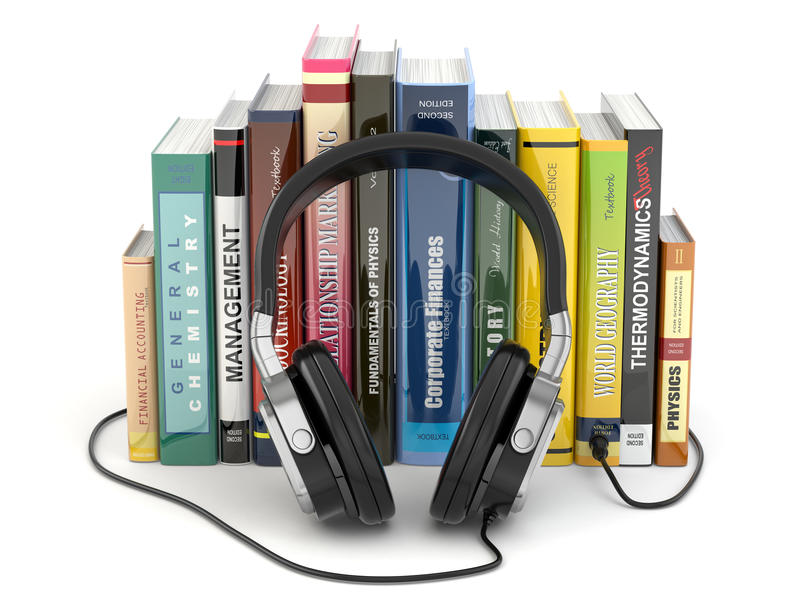 Download Audiobook Concept. Headphones And Books Stock Illustration - Illustration of entertainment, electrical: 39500261