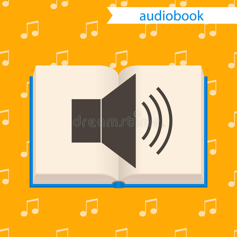 Audiobook, Ikone stock abbildung