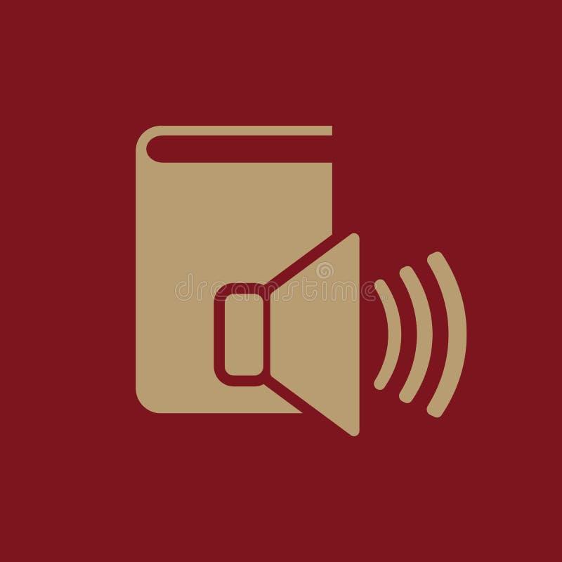 Audiobook-Ikone ENV 10 Bibliothek, Audiobook-Symbol web graphik jpg ai app zeichen nachricht flach bild zeichen lizenzfreie abbildung