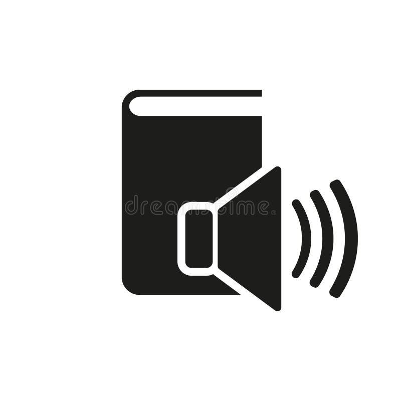 Audiobook-Ikone ENV 10 Bibliothekssymbol web graphik jpg ai app zeichen nachricht flach bild zeichen ENV Kunst stock abbildung