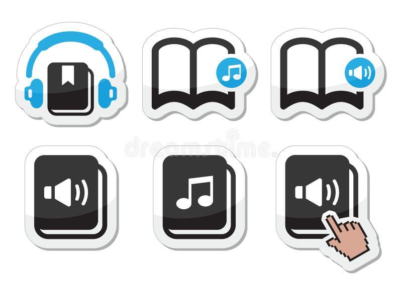 Audiobook ikony ustawiać royalty ilustracja