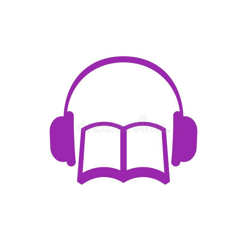 Audiobook-Vektorikone lizenzfreie abbildung