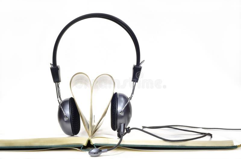 Audiobook voor liefde stock fotografie