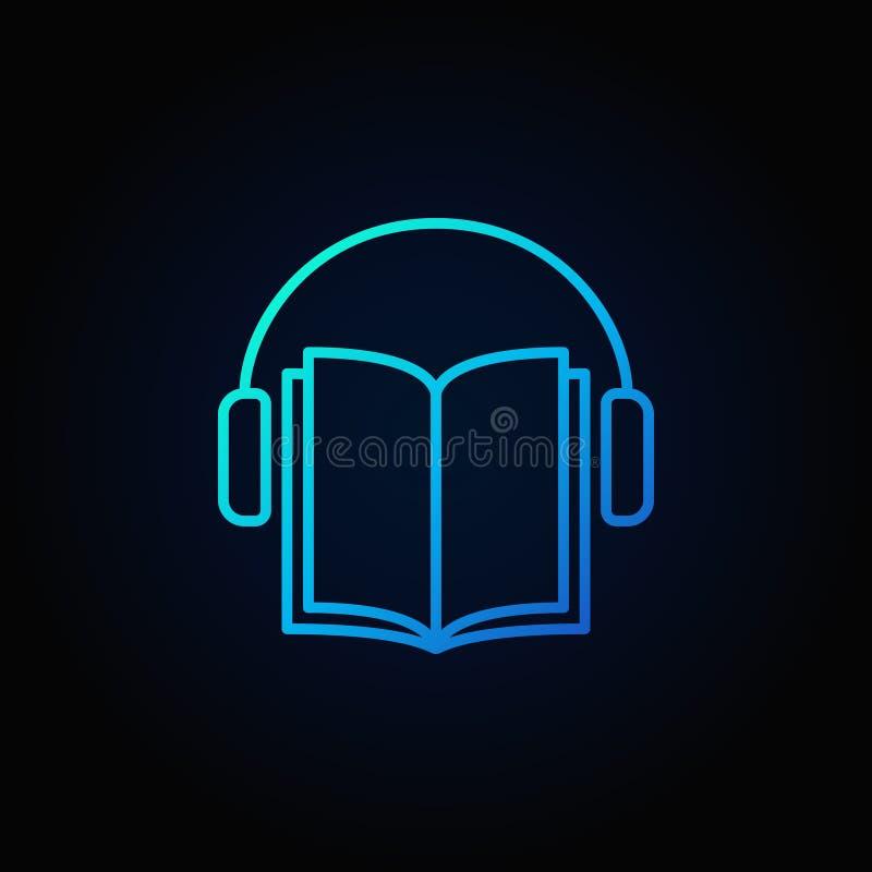 Audiobook wektorowa błękitna ikona ilustracja wektor