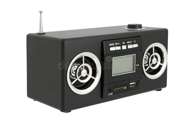 Audiobox et MP3-player photographie stock