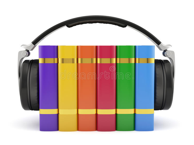 Audiobuchkonzept stock abbildung