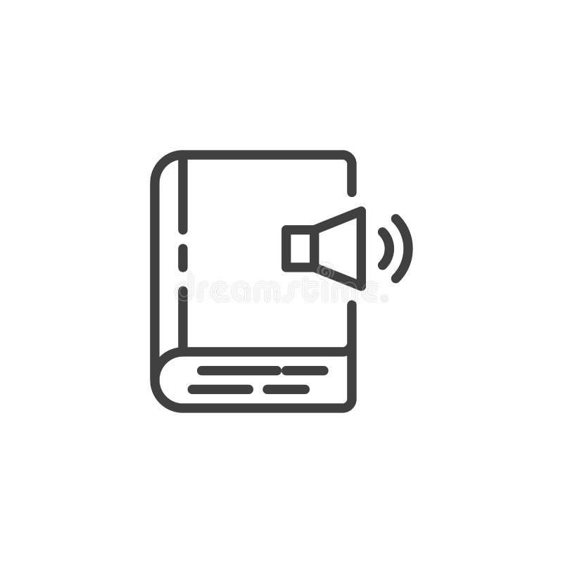 Audiobuchlinie Ikone vektor abbildung