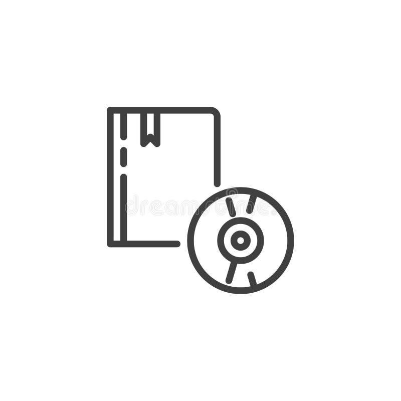 Audiobuchlinie Ikone lizenzfreie abbildung