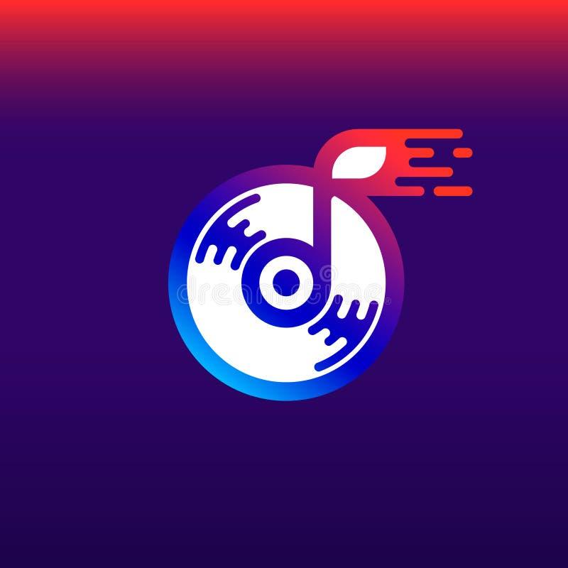 Audiobuchlogo/-ikone Kunstillustration stock abbildung