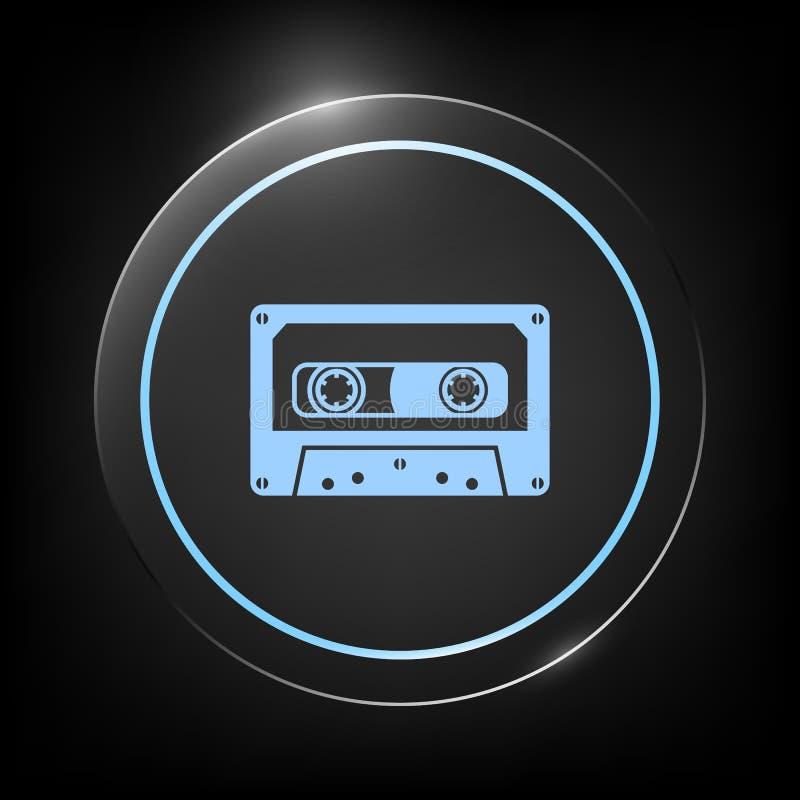 Audiocassettepictogram vector illustratie