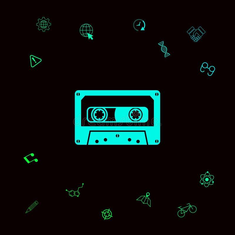 Audiocassettepictogram stock illustratie