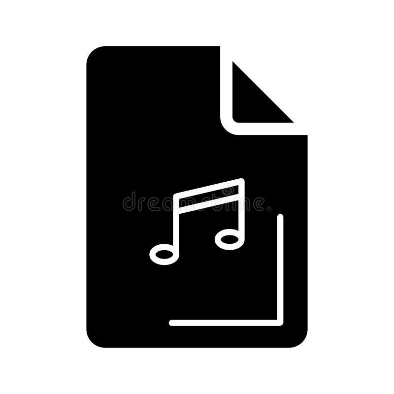 Audiodateiikone auf weißem Hintergrund Auch im corel abgehobenen Betrag lizenzfreie abbildung