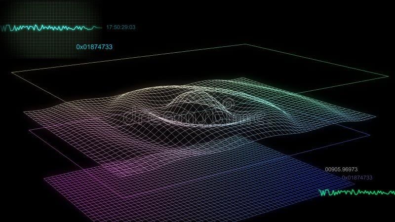 Audiodiagrammbildschirm 02 vektor abbildung