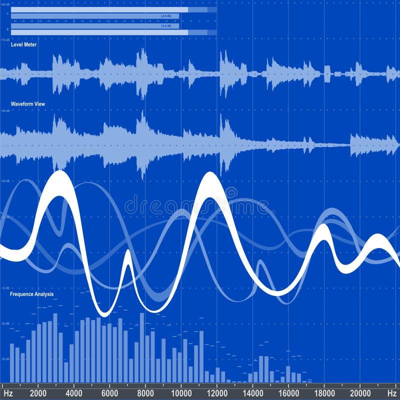 Audioentzerrer stock abbildung