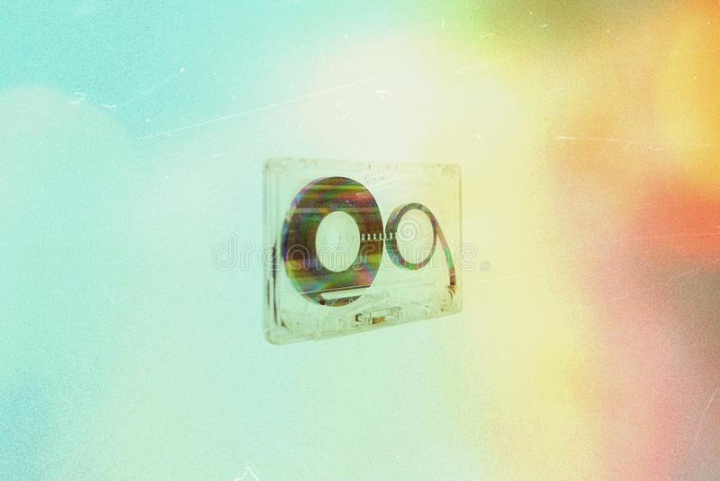 Audiokassette auf Hintergrund lizenzfreie stockfotografie