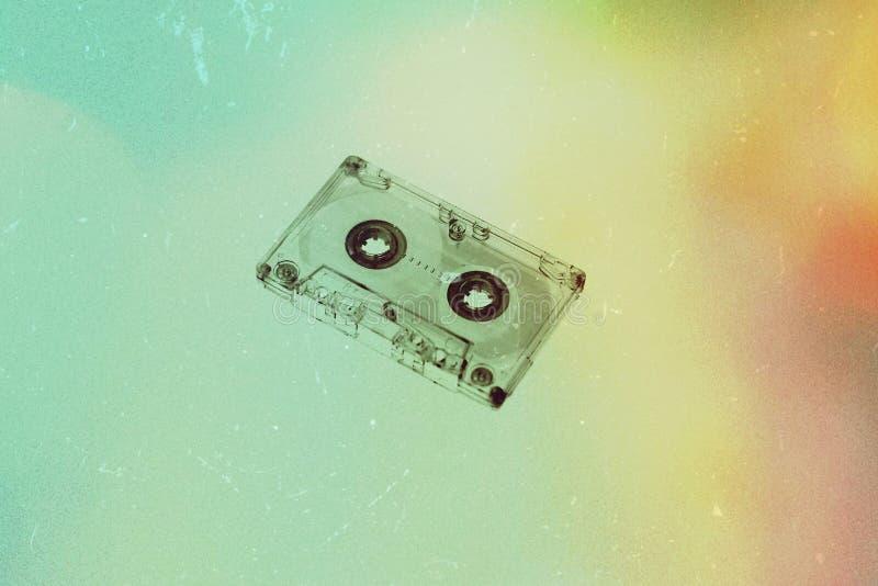 Audiokassette auf Hintergrund stockfoto