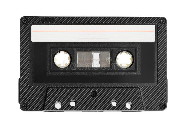 Audiokassette mit leerem Aufkleber stockbild