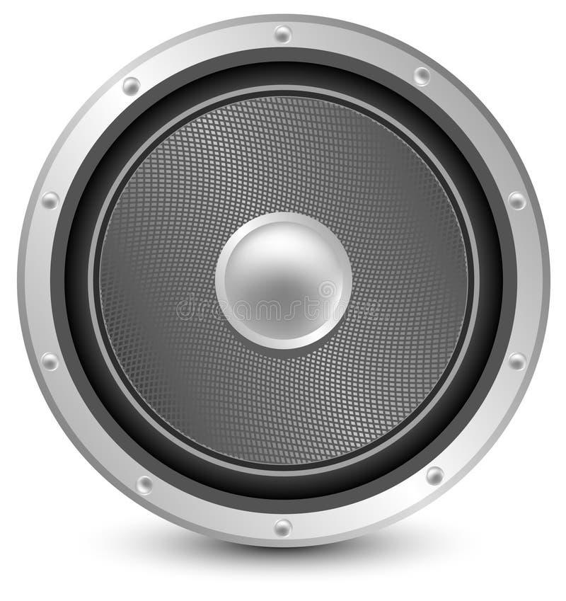 Audiolautsprecher lizenzfreie abbildung
