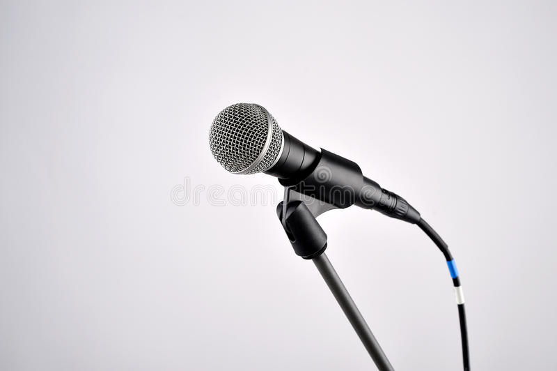 Audiomicrofoon royalty-vrije stock foto's