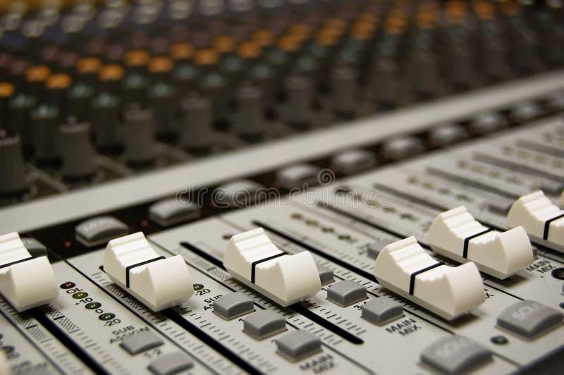 Audiomischer stockbild
