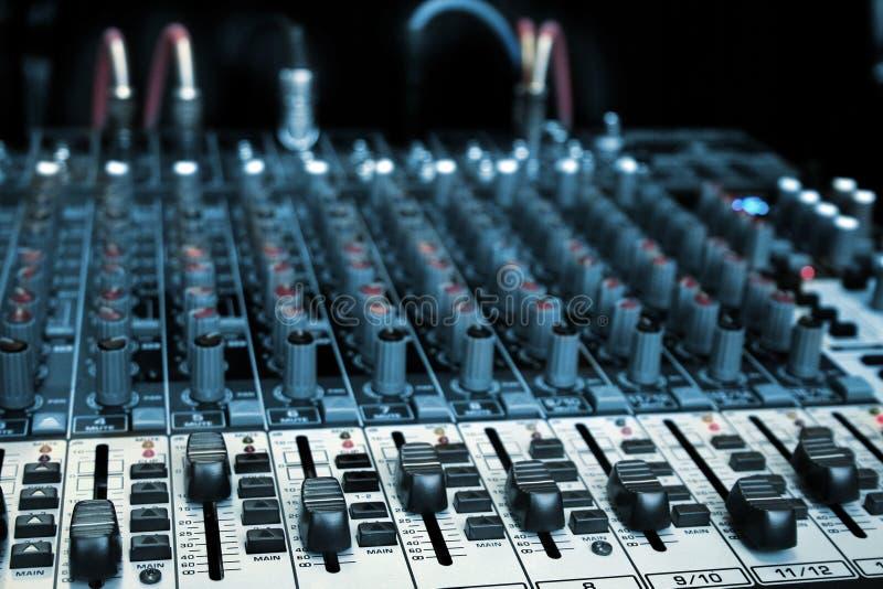 Audiomixer stock foto