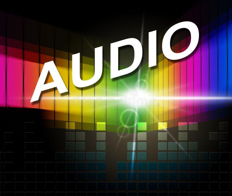 Audiomusik stellt Violinschlüssel und Crotchets dar vektor abbildung
