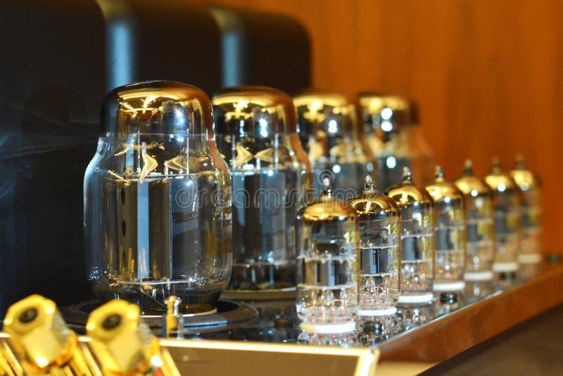 Audiophile audio elektroniczny próżniowej tubki amplifikator zdjęcie stock