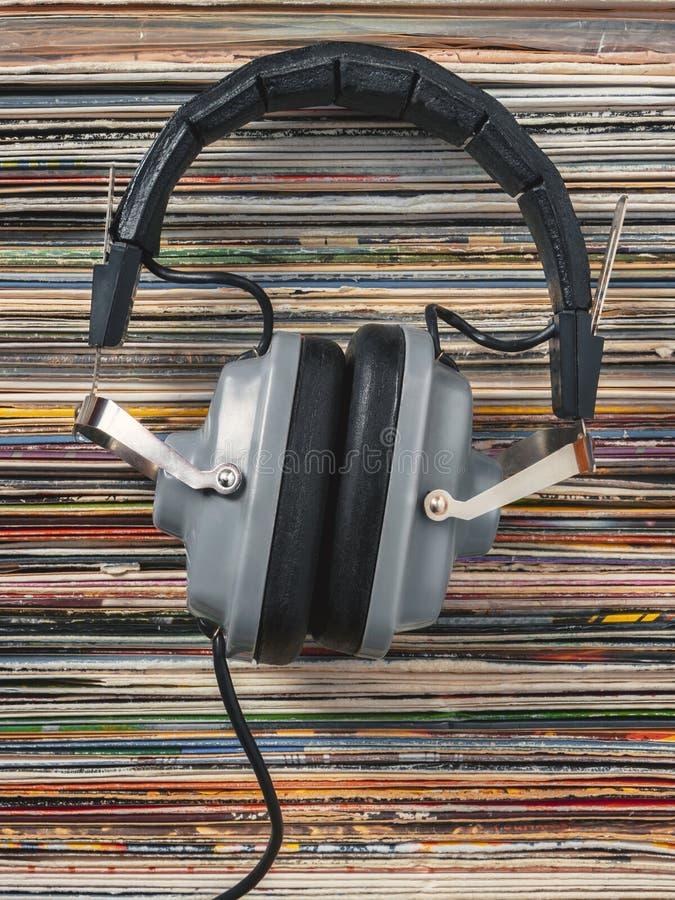 Audiophile hełmofony zdjęcie stock