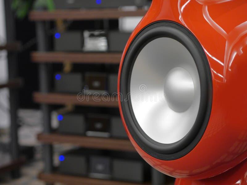 Audiophile mówcy i hi fi system dźwiękowy zdjęcie stock