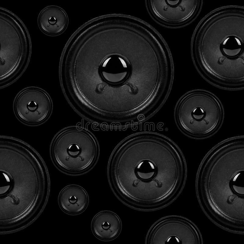 Audiosprecher, nahtloses Hintergrundmuster lizenzfreie stockbilder