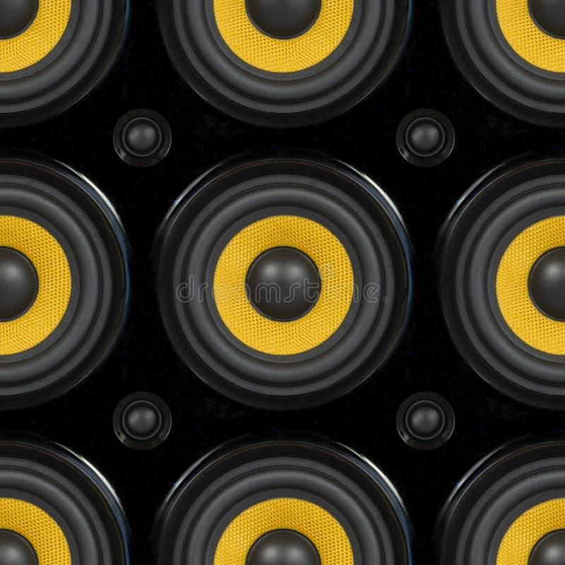 Audiosprecher-nahtloses Muster lizenzfreies stockbild